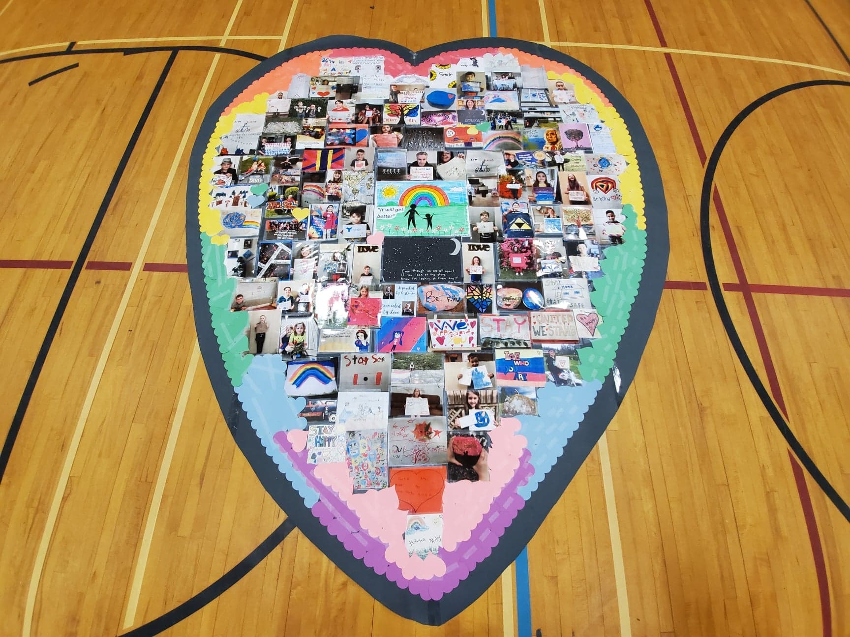 'Together at heART' Collaborative Art Project (click for video)